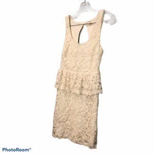 Anthropologie Pins + Needles white lace open backS